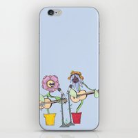 woodstock iPhone & iPod Skins featuring Woodstock Garden by Michele Baker