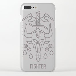 Fighter Emblem Clear iPhone Case