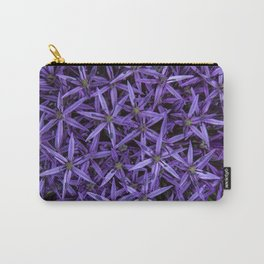 Purple giant garlic flowers Carry-All Pouch