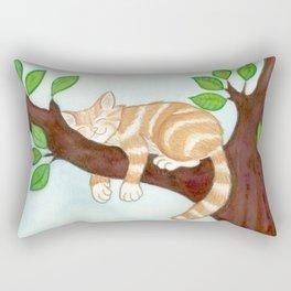 Shhh! cat is sleeping Rectangular Pillow