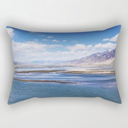 Tibet: Brahmaputra river Rectangular Pillow
