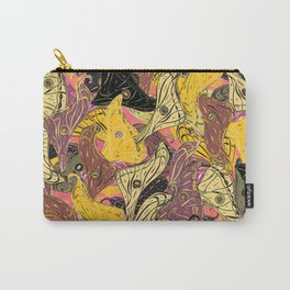 Butterfly Wings in Bold Yellow Carry-All Pouch