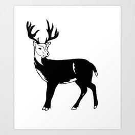 Stag Print Art Print