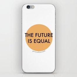 The Future is Equal - Orange iPhone Skin