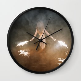 Fire Swim With Me Wall Clock