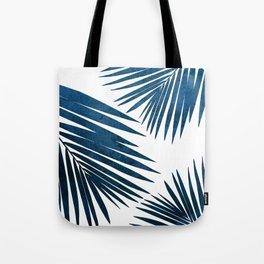 Indigo Palm Fronds Tote Bag