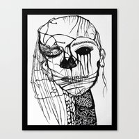 psycho Canvas Prints featuring ~psycho by alexisdarkness