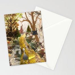 Geese on the golden lane Stationery Cards