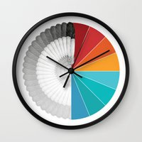 shield Wall Clocks featuring SHIELD by Ben Beaudoin