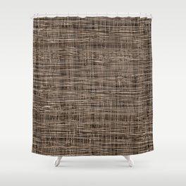 Burlap Lace Texture Shower Curtain