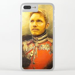 Starlord Guardians Of The Galaxy General Portrait Painting | Fan Art Clear iPhone Case