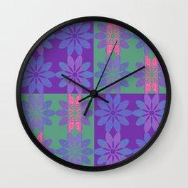 Flower Pattern7 Wall Clock