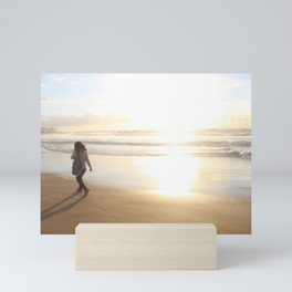 First Stepping Out onto the Beach ; Washed in White Light  Mini Art Print