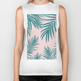 Palm Leaves Pattern Summer Vibes #1 #tropical #decor #art #society6 Biker Tank