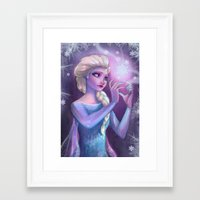 elsa Framed Art Prints featuring Elsa by Red Red Telephone