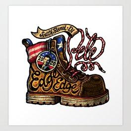 Pete 2020 | Boot-Edge-Edge | Combat Boot Art Print