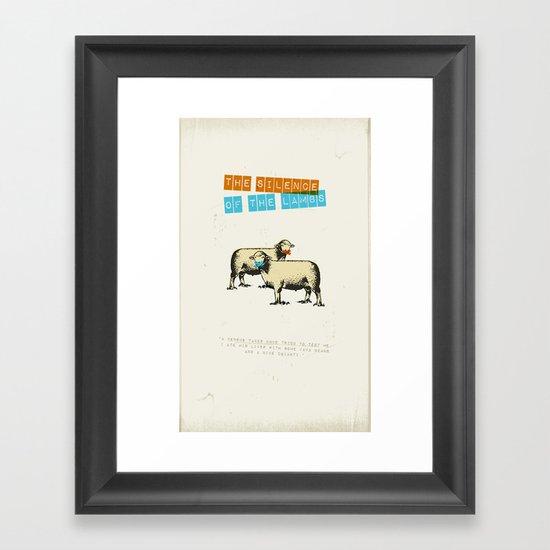 The silence of the lambs Framed Art Print