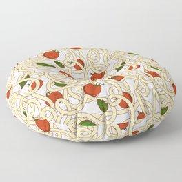 Spaghetti with tomato Floor Pillow