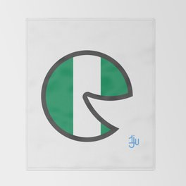 Nigeria Smile Throw Blanket