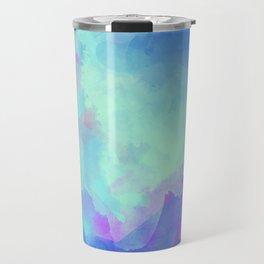 Watercolor abstract art Travel Mug