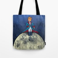 the little prince Tote Bags featuring Little Prince by Anais.Lalovi