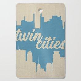 Twins Cities Skylines-Minneapolis and Saint Paul, Minnesota Cutting Board