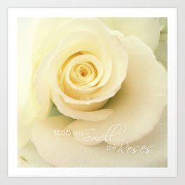 Smell the Roses - iPhoneography Art Print