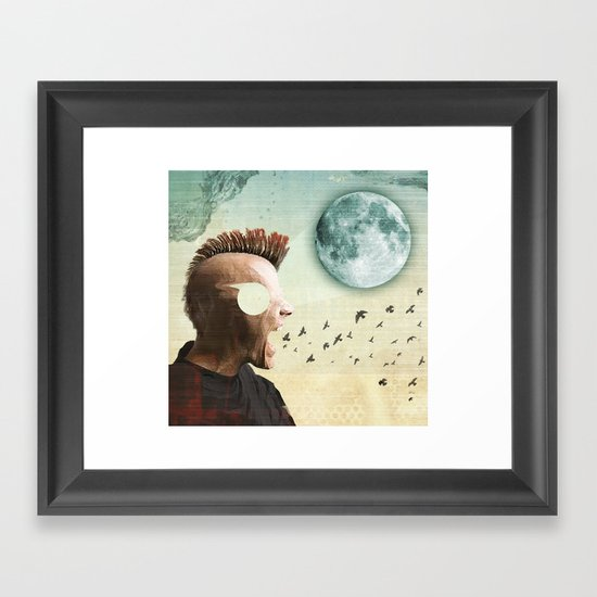 luna mohawk  Framed Art Print