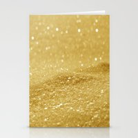 gold glitter Stationery Cards featuring Glitter Gold by Alice Gosling