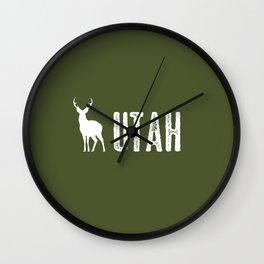 Deer: Utah Wall Clock