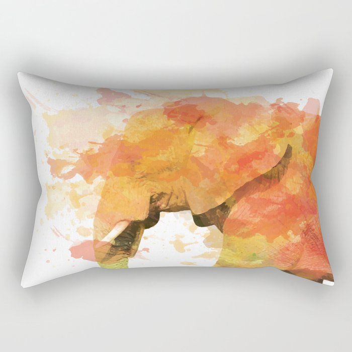 Positive elephant Rectangular Pillow