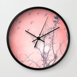 Spring Frost Wall Clock