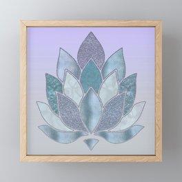 Elegant Glamorous Pastel Lotus Flower Framed Mini Art Print