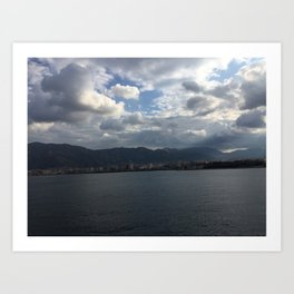 sea of palermo / port Art Print