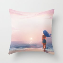 Where I'd Rather Be Throw Pillow