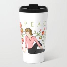 Yoga Girls_Peacefull Twist_Robin Pickens Travel Mug