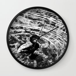 Pied-Billed Grebe Wall Clock