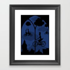 Let's go fly a bike Framed Art Print
