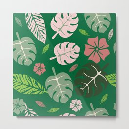 Tropical leaves green paradise #homedecor #apparel #tropical Metal Print