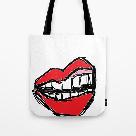 Rough sketch of Lips. Tote Bag