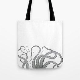 Vintage kraken octopus tentacles nautical antique sea creature steampunk graphic print Tote Bag