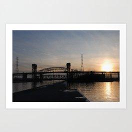 Burlington Bridge Art Print