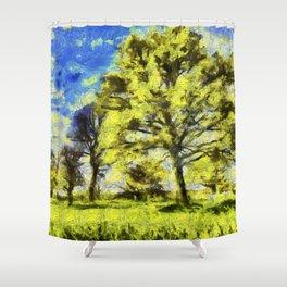 English Summer Farm Van Gogh Shower Curtain