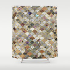Textured Moons Shower Curtain
