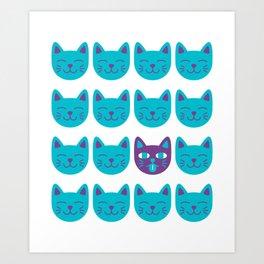 Cat Tongue Art Print