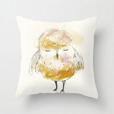 just a little owl Throw Pillow