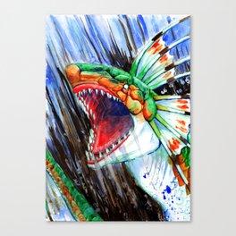 Green Plesioth Rages Canvas Print