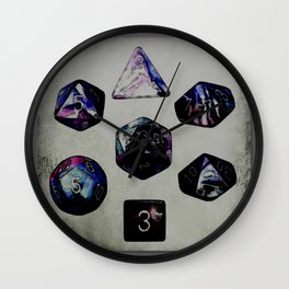 DUNGEON DICE Wall Clock