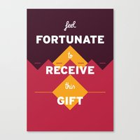 warcraft Canvas Prints featuring Feel fortunate to receive this gift by krisztian