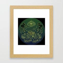 Reading minds / Mielofon Framed Art Print